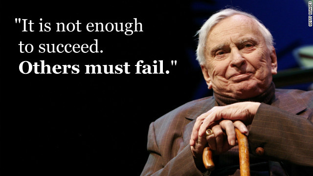 Gore Vidal Quote (About succeed fail)