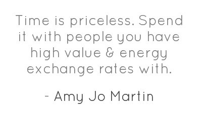 Image of: Inspirational Amy Jo Martin Quote about Time Friends Family Exchange Rate Good Morning Quote Amy Jo Martin Quote about Time Friends Family Exchange Rate Cq