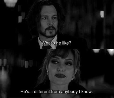 The Tourist (2010)  Quote (About lover love different)