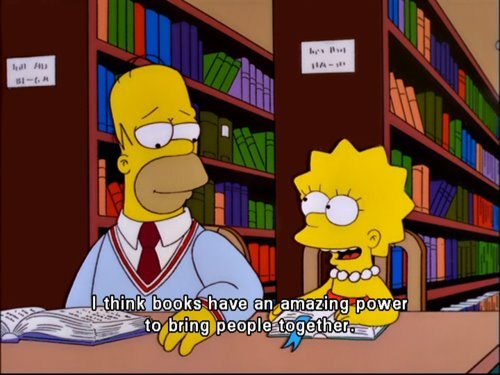 The Simpsons  Quote (About together power books)