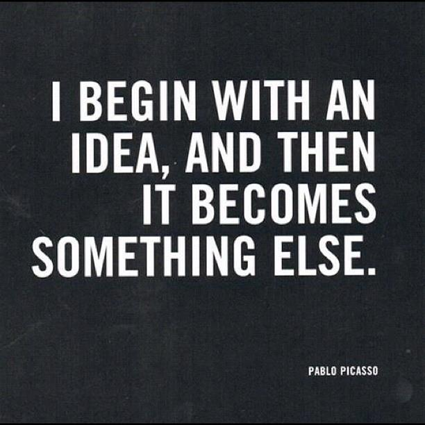 Pablo Picasso Quote (About painting idea design)