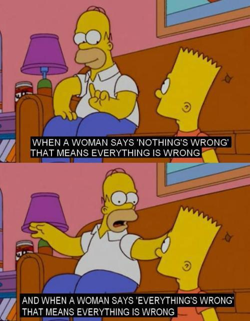 The Simpsons  Quote (About women woman what women think)