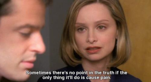 Ally McBeal Quote (About truth pain)