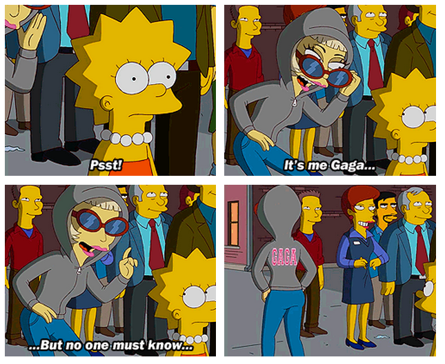 The Simpsons  Quote (About no one must know gaga)