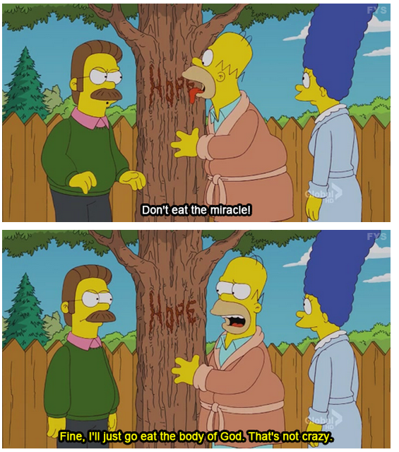 The Simpsons  Quote (About miracle hope god)