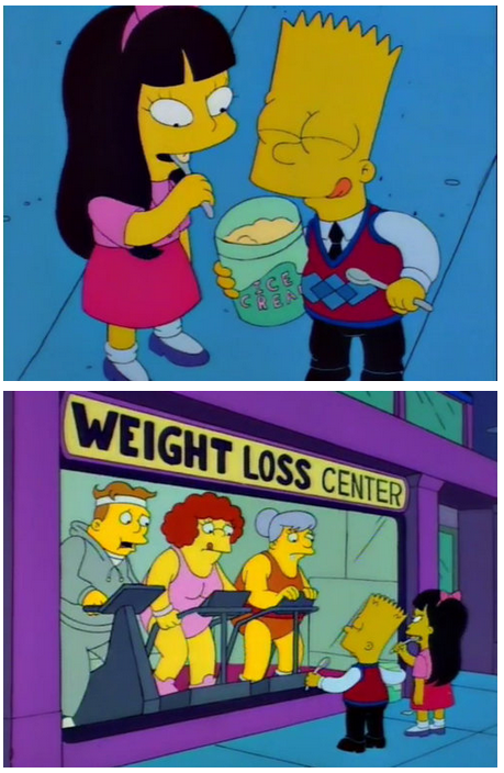 The Simpsons  Quote (About weight loss keep fit jessica ice cream)