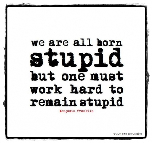 Benjamin Franklin  Quote (About work hard stupid hard working born)