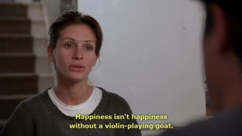 Notting Hill (1999)  Quote (About violin happy happiness goat)