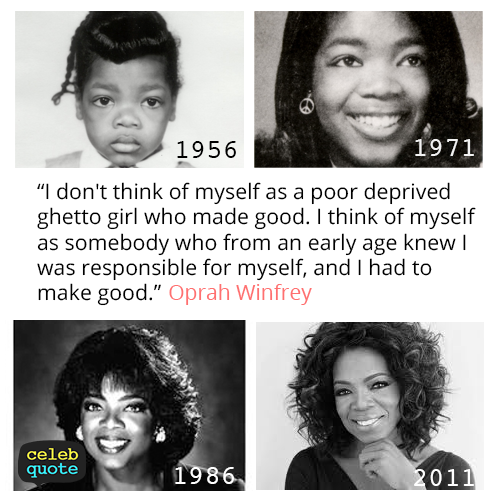 Oprah Winfrey Quote (About myself)