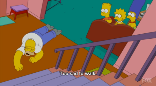 The Simpsons  Quote (About walk sad lazy crawl)