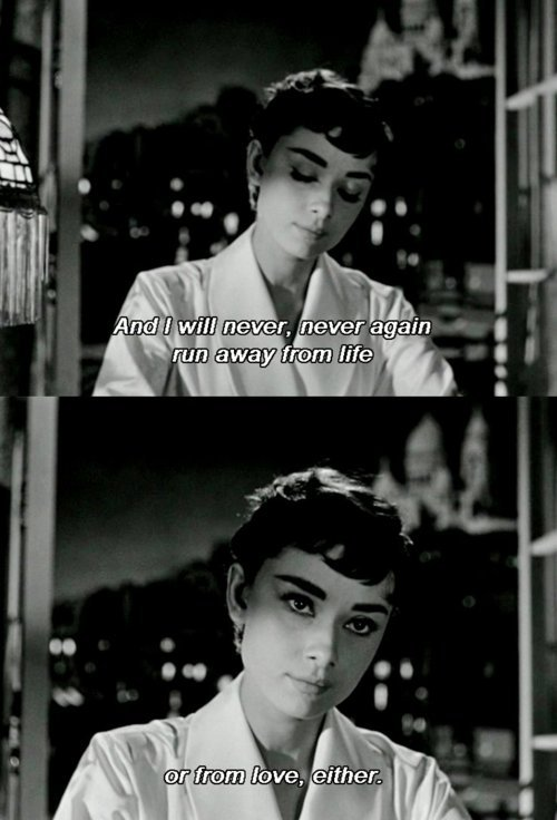 Sabrina (1954)  Quote (About run away love life)