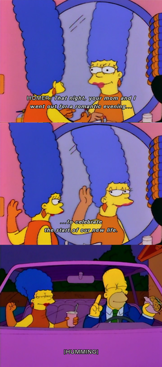 The Simpsons  Quote (About young homer romantic new life marge)