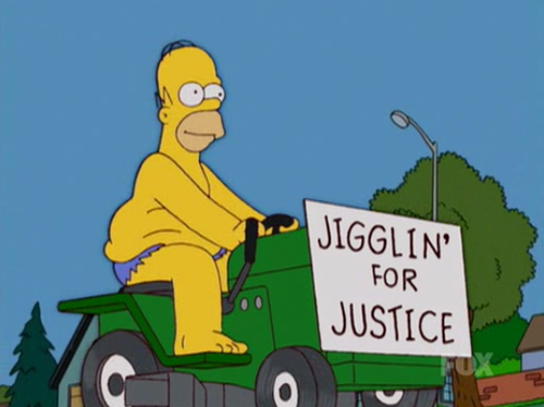 The Simpsons  Quote (About justice jiggling)