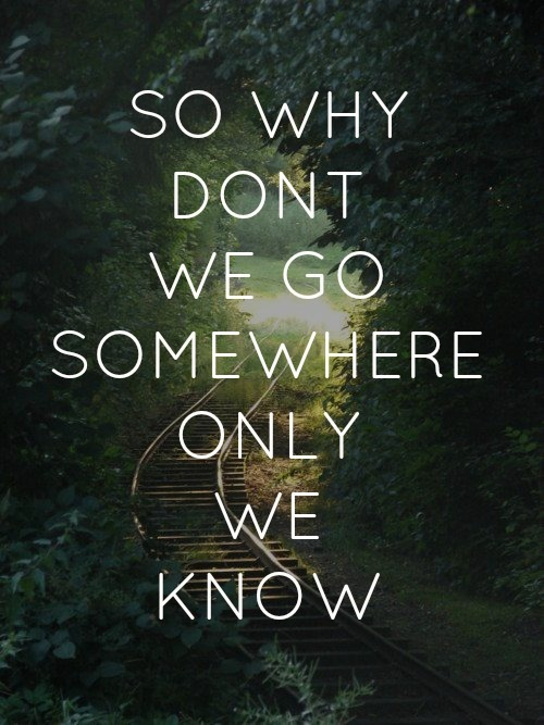 Keane Somewhere Only We Know Quote (About somewhere)