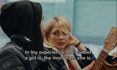 Blue Valentine (2010)  Quote (About pretty girl nuts funny experience)