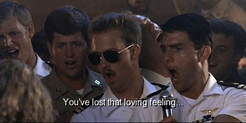 Top Gun (1986)  Quote (About singing loving flirt feeling bar)