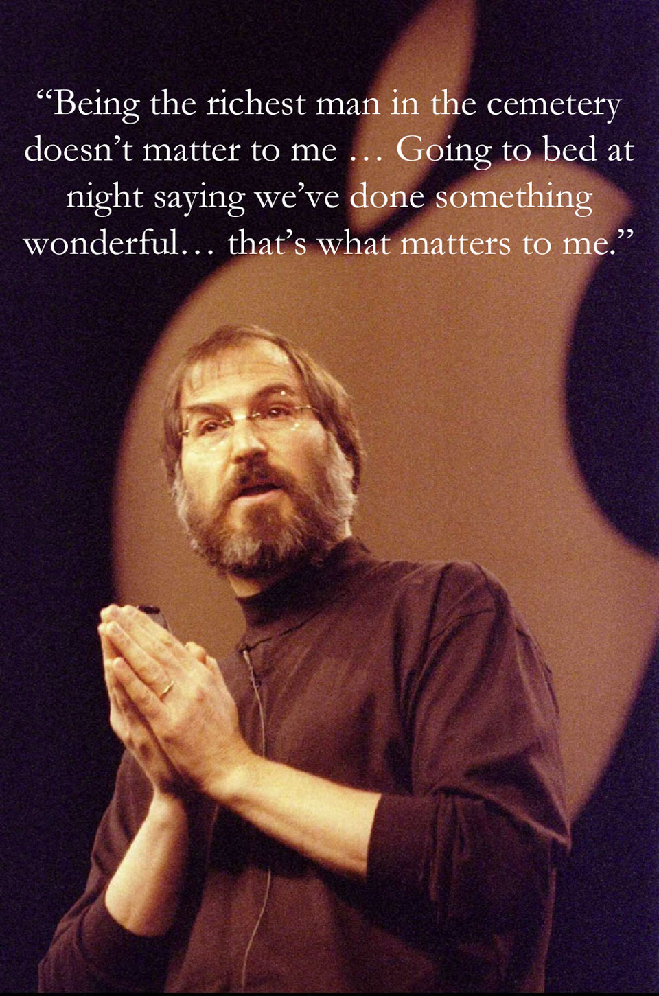 Steve Jobs  Quote (About wonderful RIP richest matters die change the world cemetery)