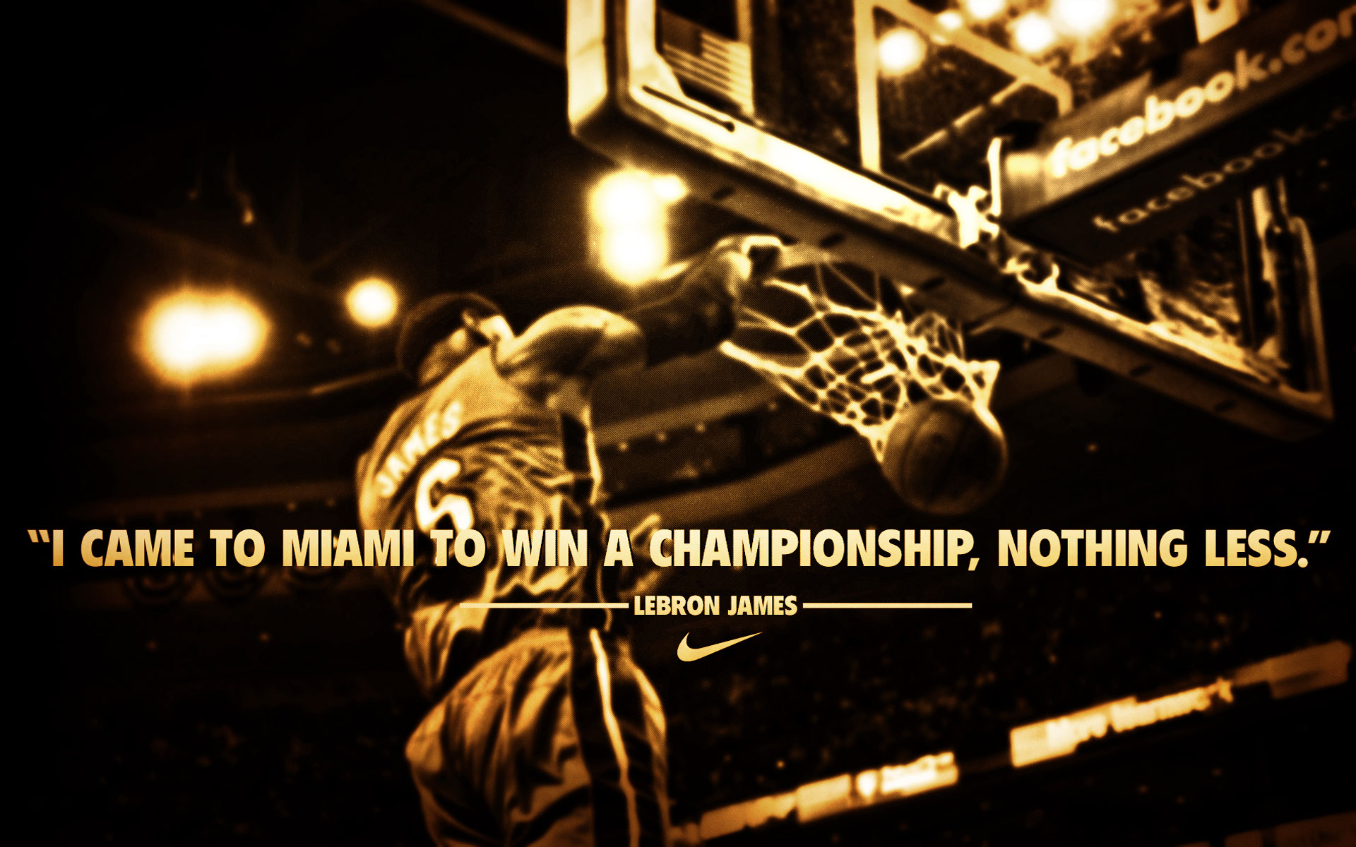 LeBron James  Quote (About miami championship champion basketball)