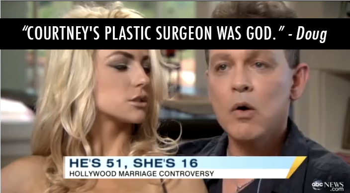 Doug Hutchison  Quote (About plastic surgery god courtney stodden courtney christian)