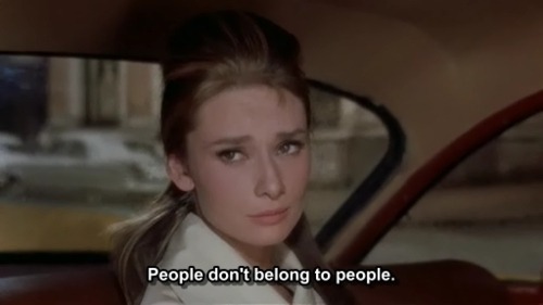 Breakfast at Tiffanys (1961) Quote (About single people love individual freedom free belong to people alone)