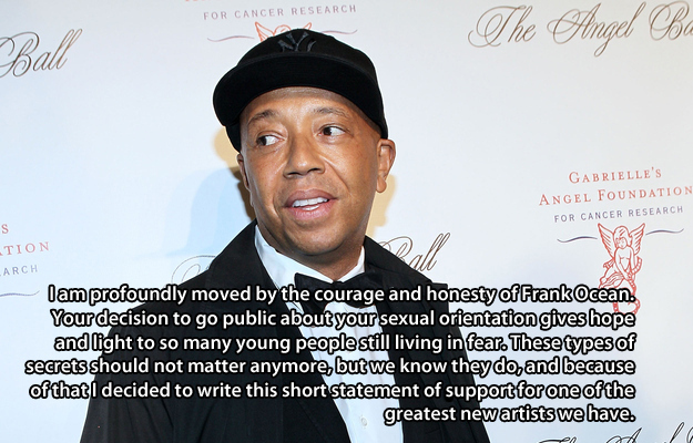 Russell Simmons  Quote (About support LGBT gay Frank Ocean come out)