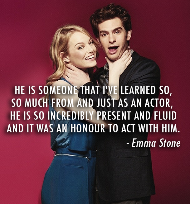 Emma Stone  Quote (About love learning hollywood couple dating actor)