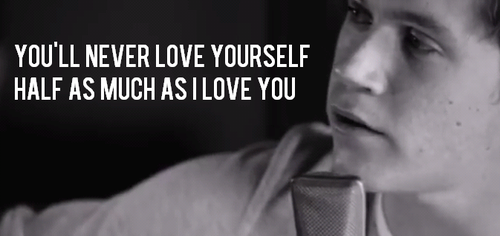 Little Things Quote (About solo luv love yourself love i love you half black and white)