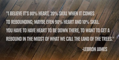 LeBron James Quote About basketball heart rebound skill trees