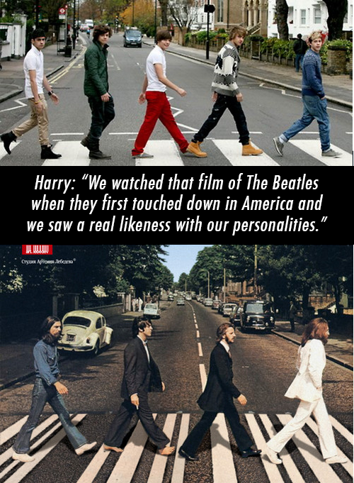 Harry Styles,One Direction  Quote (About smilar personalities likeness Beatles)