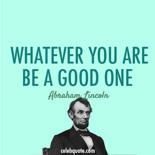Abraham Lincoln Quote (About target success smart goal be a good one)