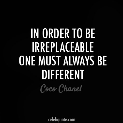 Coco Chanel Quote (About same irreplaceable different be yourself)