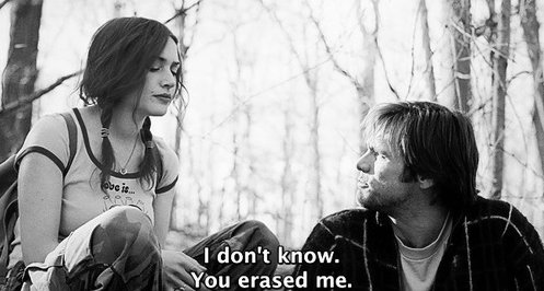 Eternal Sunshine of the Spotless Mind (2004) Quote (About forget erase black and white)