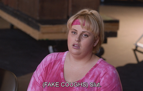 Pitch Perfect (2012) Quote (About slutty slut bitches)