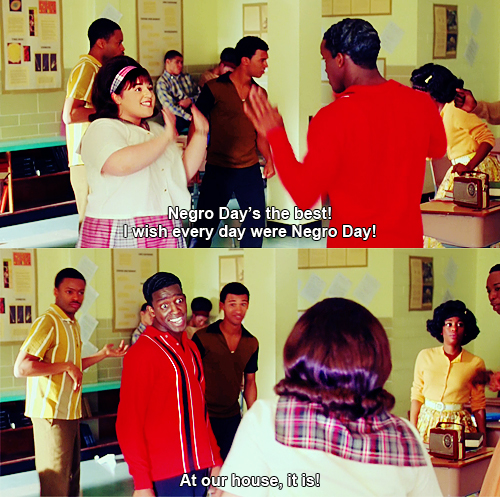Hairspray (2007) Quote (About negro day)