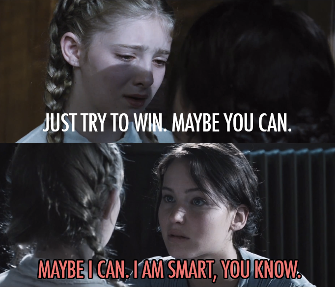 The Hunger Games (2012) Quote (About win volunteer sister Prim district 12)