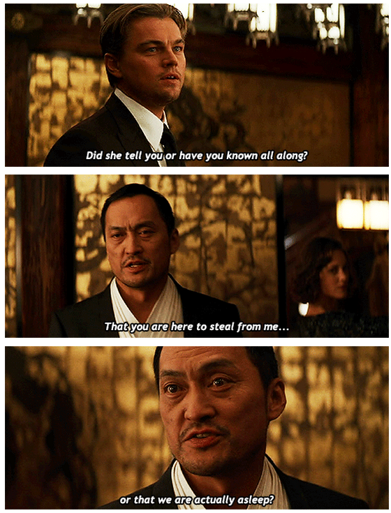 Inception (2010) Quote (About reality asleep)