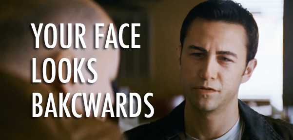 Looper (2012) Quote (About old face coffee scene backwards)