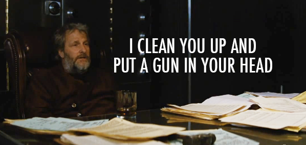 Looper (2012) Quote (About killer head gun clean up)
