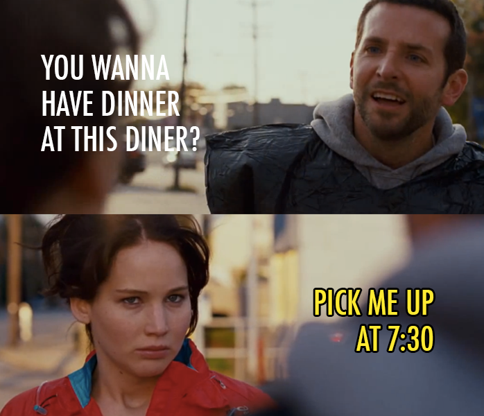 Silver Linings Playbook (2012) Quote (About love dinner date)