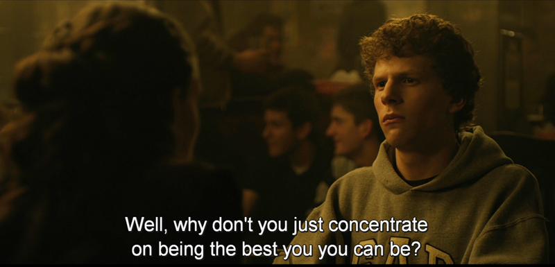 The Social Network (2010) Quote (About gifs concentrate best)