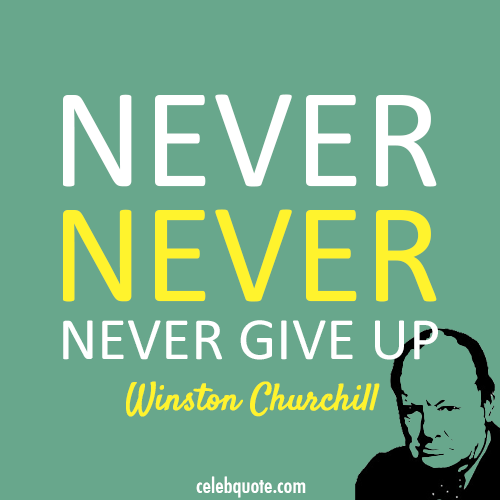 Winston Churchill Quote (About never give up)
