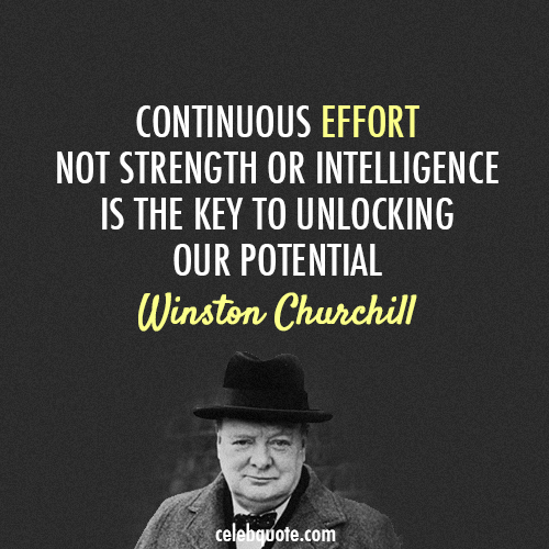 Winston Churchill Quote (About strength potential intelligence effort)
