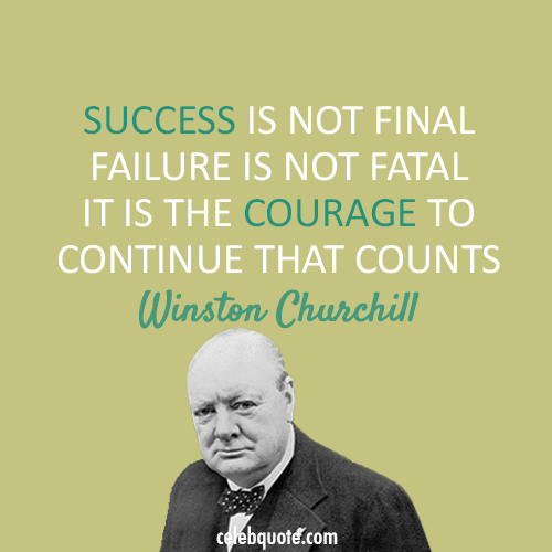 Winston Churchill Quote (About success failure courage)