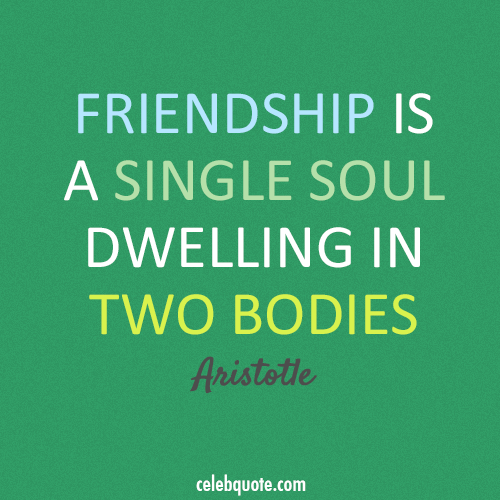 Aristotle Quote (About soul friendship bodies)