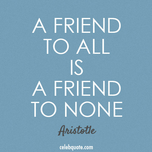 Aristotle Quote (About truth friend)