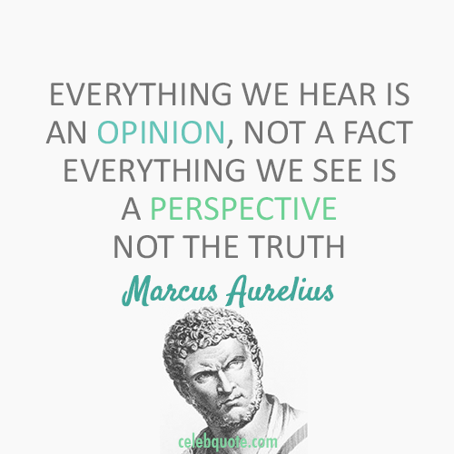 Marcus Aurelius Quotes Delectable Marcus Aurelius Quote About Truth Perspective Opinion Fact CQ