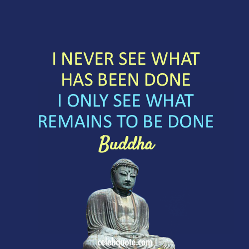 Buddha Quote (About just do it action louder than words action)