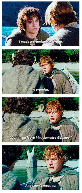 The Lord of the Rings: The Fellowship of the Ring (2001) Quote (About promise Frodo friends)