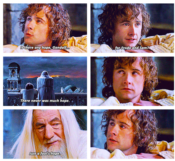 The Lord of the Rings: The Return of the King (2003) Quote (About Sam risk hope Frodo fool)