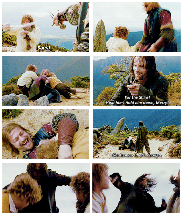 The Lord of the Rings: The Fellowship of the Ring (2001) Quote (About fighting attack)